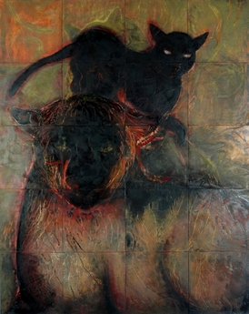 JAN HARRISON Encaustic Paintings 2004-2007 encaustic, charcoal and pastel on twenty wood panels