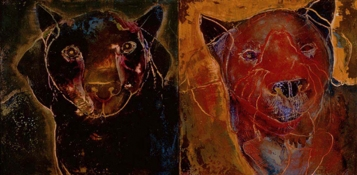 JAN HARRISON Encaustic Paintings 2004-2007 encaustic, pastel, charcoal and colorpencil on two wood panels
