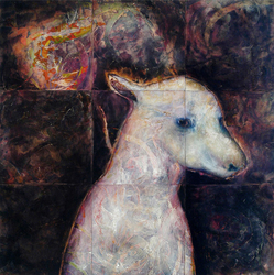 JAN HARRISON Encaustic Paintings 2004-2007 encaustic, pastel & colorpencil on nine wood panels
