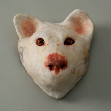 JAN HARRISON Recent Sculpture bisque-fired porcelain, beeswax, and encaustic sculpture/mask