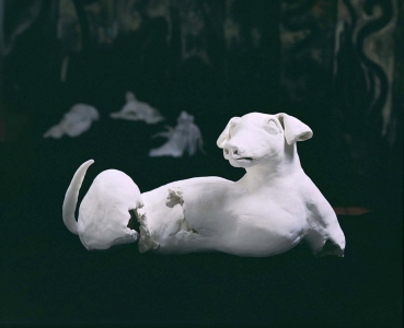 JAN HARRISON Early Sculpture: Installation bisque-fired porcelain sculpture
