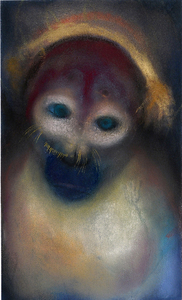 JAN HARRISON The Corridor Series - Primates/Birds 2009-2011 Pastel, charcoal, ink and oilstick on rag paper