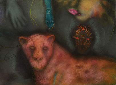 JAN HARRISON Animals in the Anthropocene, Pastel/Paper Paintings 1993-2018  pastel, ink, colorpencil, and charcoal on rag paper