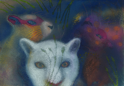 JAN HARRISON Animals in the Anthropocene, Pastel/Paper Paintings: 1993-2017   pastel, ink, colorpencil, charcoal on rag paper
