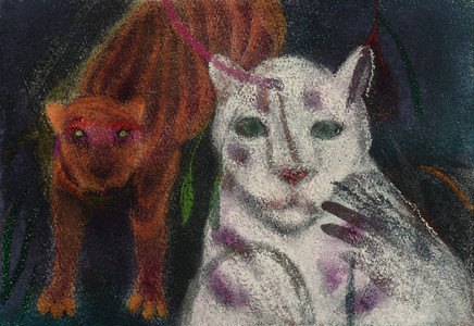JAN HARRISON Animals in the Anthropocene, Pastel/Paper Paintings 1993-2018  pastel, ink, and charcoal on rag paper