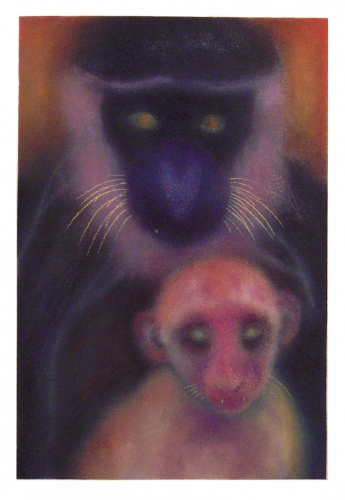 JAN HARRISON The Corridor Series Big Cats, and Other Animals 2009-2012 Pastel, charcoal and ink on rag paper