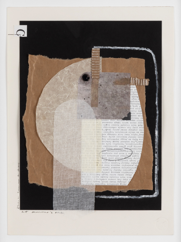 JANICE STANTON NEW ARCHIVE  Photograph, photo corner, craft paper, rice paper, gauze, chalk, graphite