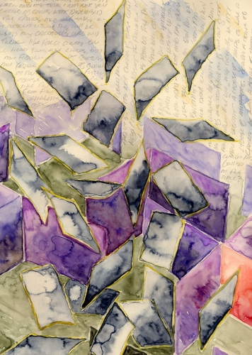 Janina Ciezadlo House of Cards water color