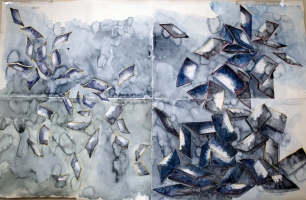 Janina Ciezadlo More Cards Watercolor on Paper