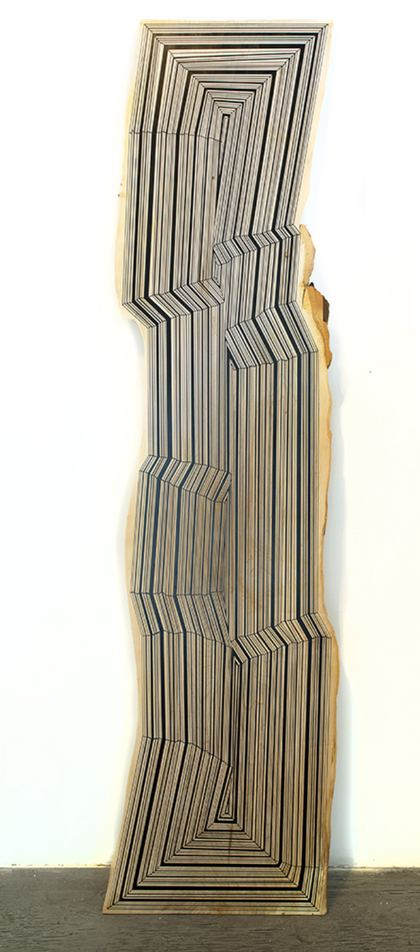 JASON MIDDLEBROOK planks Spray paint on Maple