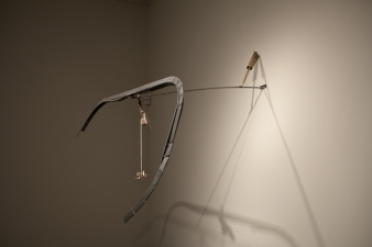 Sculpture Steel, Mirror, Tennis Ball, Popsicle Sticks, Braided Line, Walnut, Stick, Brass, Galvanized Wire