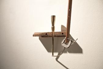 Sculpture  Bronze, Wood (plywood, walnut, cherry, and poplar), C Clamp