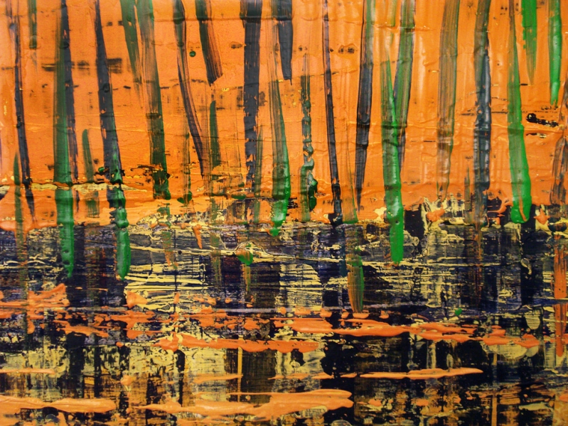 2010-2011 PAINTINGS DETAIL, Untitled (landscape)