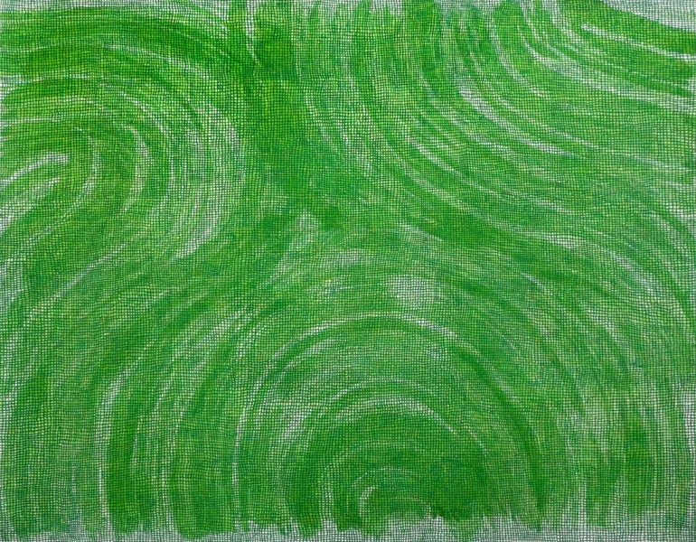 WORK ON PAPER Untitled/green drawing