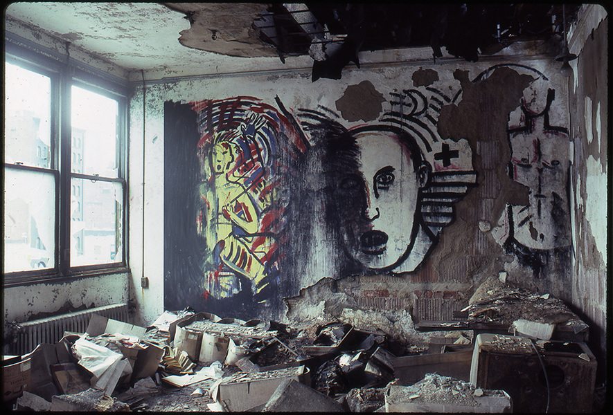 1983 THE PIER 34 SHOW David Wojnarowicz artwork painted over