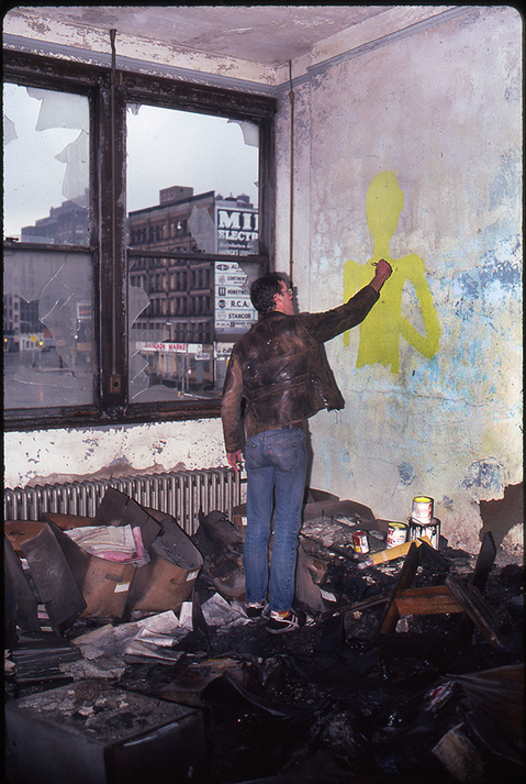 1983 THE PIER 34 SHOW David Wojnarowicz painting at Pier 34