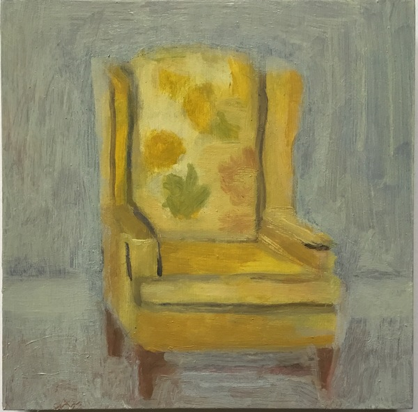 painting Yellow arm chair