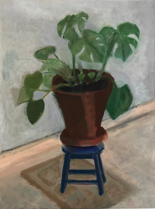 painting Philodendron