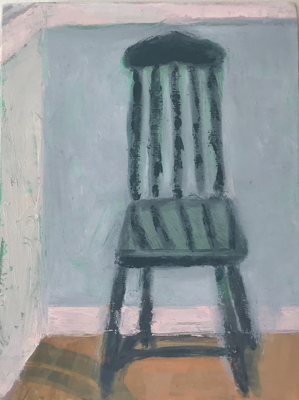 painting Small chair in a tiny house