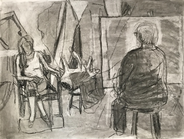 Jean Smith drawing Charcoal