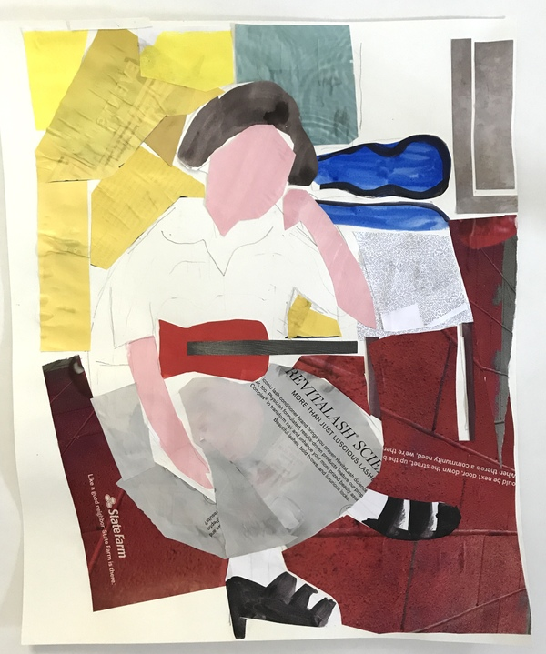 collage/paper after Matisse