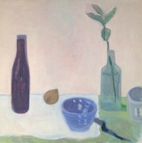 painting Still life with dark bottle