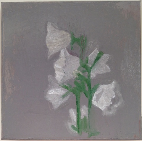 painting Canterbury bells