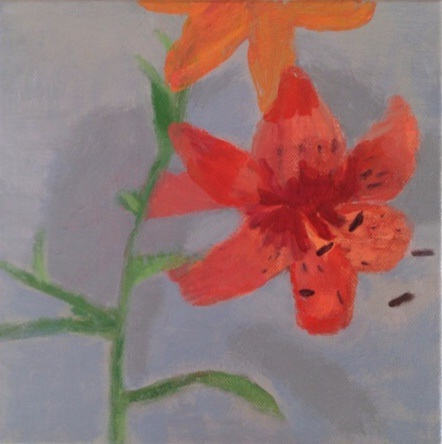 painting Tiger lily 2