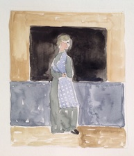 Jean Smith after famous paintings watercolor