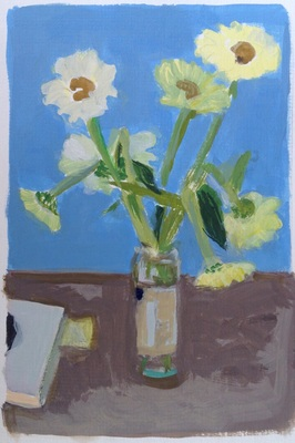 Jean Smith Flowers acrylic