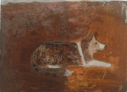 The dogs oil on panel