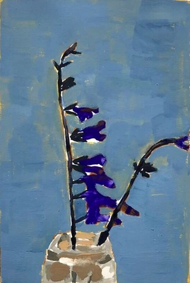 Jean Smith Flowers Acrylic gouache on Bristol