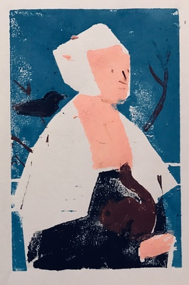 Jean Smith after famous paintings woodcut print