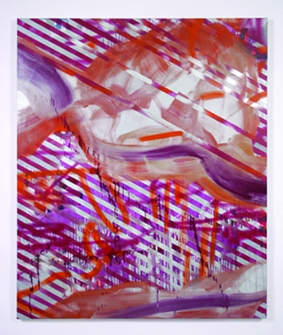 Paintings oil and spray paint on canvas