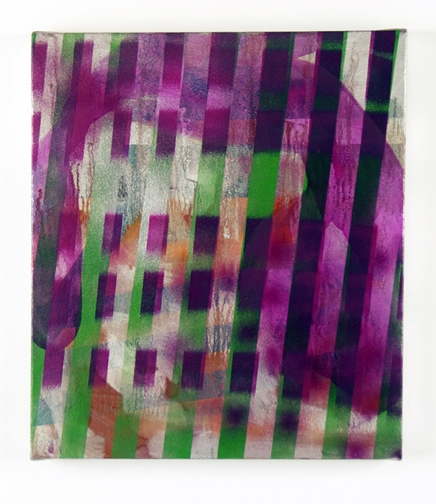 Paintings Untitled, Green Stripes