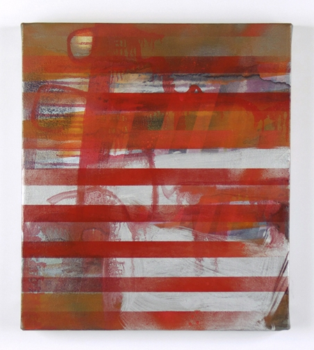 Paintings Untitled, Red Stripes