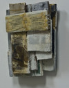 reAssemblages wood, beeswax, resin, pigment, collagraph, paper, fabric