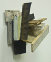 reAssemblages wood, beeswax, resin, pigment, paper, black walnut dye