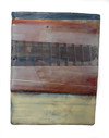 Inland Steel 2015-Present Encaustic and Oil in shaped panel