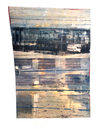 Structural Alterations encaustic and oil on shaped panel