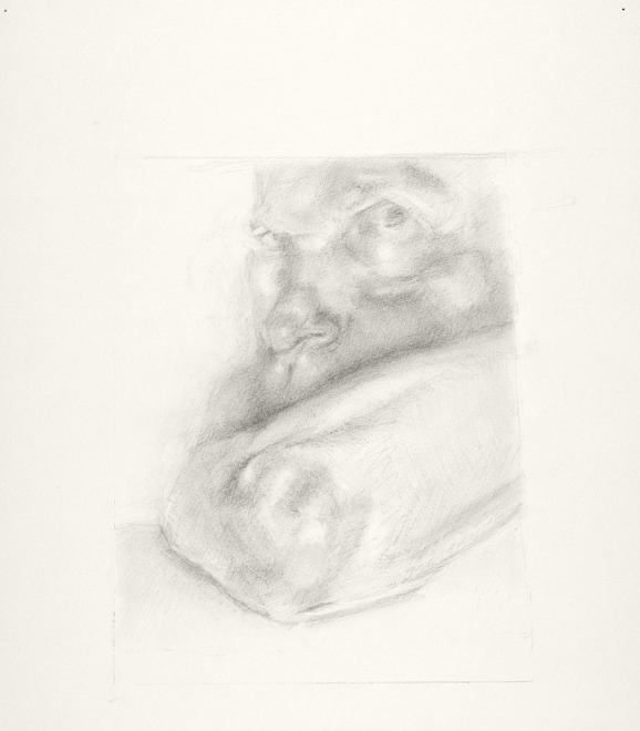 Self-portrait drawings Study of face and arm (CHINCOE 16x12)