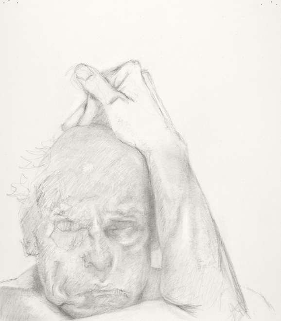 Self-portrait drawings Study of head and arm (8th CHOUPARM)