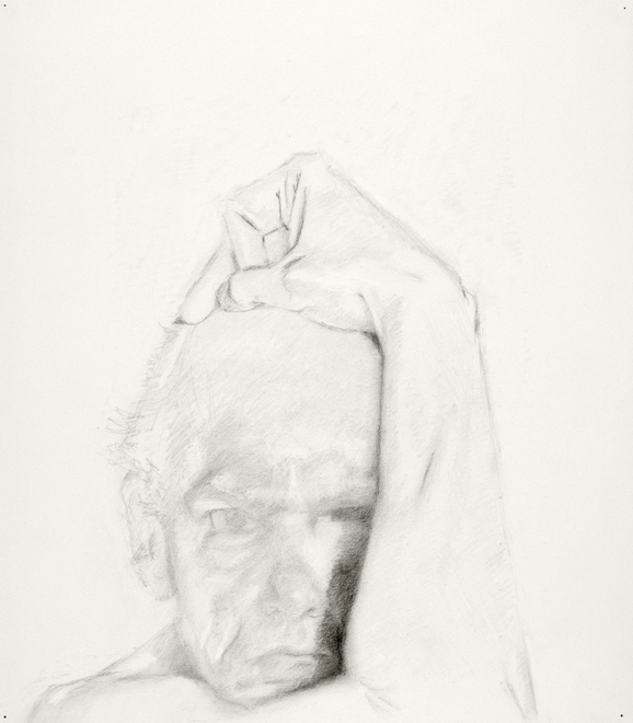 Self-portrait drawings Study of head and arm (4th CHOUPARM)