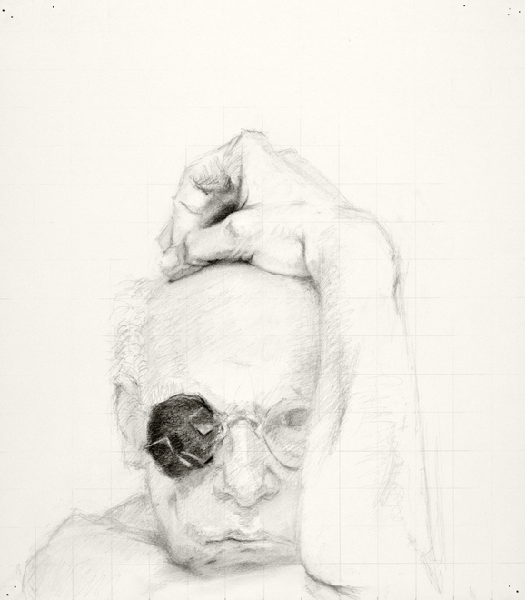 Self-portrait drawings Study of head and arm (1st CHOUPARM)