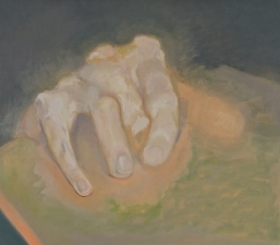 Paintings and drawings of my left hand oil on linen