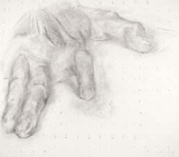 Paintings and drawings of my left hand