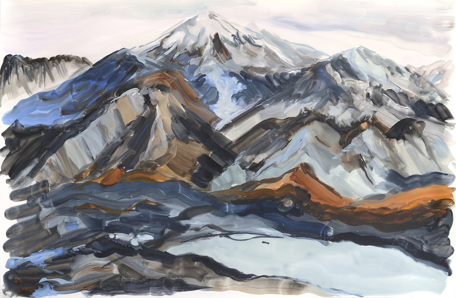 Paintings Mountain Glacier