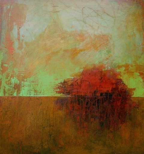 Jen Bradford Landscape oil on linen over panel