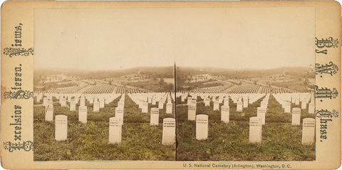 U. S. National Cemetery (Arlington), Washington, D.C., date and photographer unknown. From The Miriam and Ira D. Wallach Division of Art, Prints and Photographs: Print Collection, The New York Public Library, Digital Collections