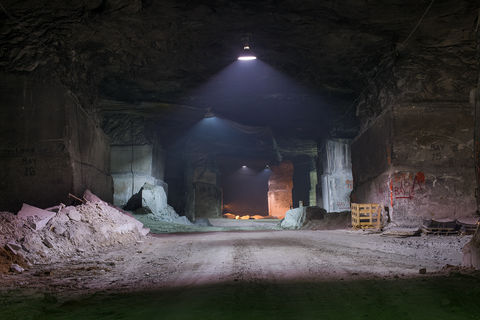 , Driving area connecting mining bays, Danby Quarry